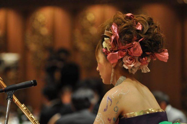 明子 akiko yamada フルート 音楽家 フルート奏者 ドレス デザイン ネイル 久留米 福岡 山田明子 ヘアアレンジ